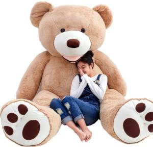 riesen teddyb r 2 meter xxl teddy in 200 cm online kaufen. Black Bedroom Furniture Sets. Home Design Ideas