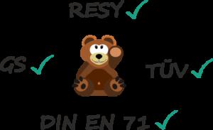 Testsiegel für Riesen-Teddys
